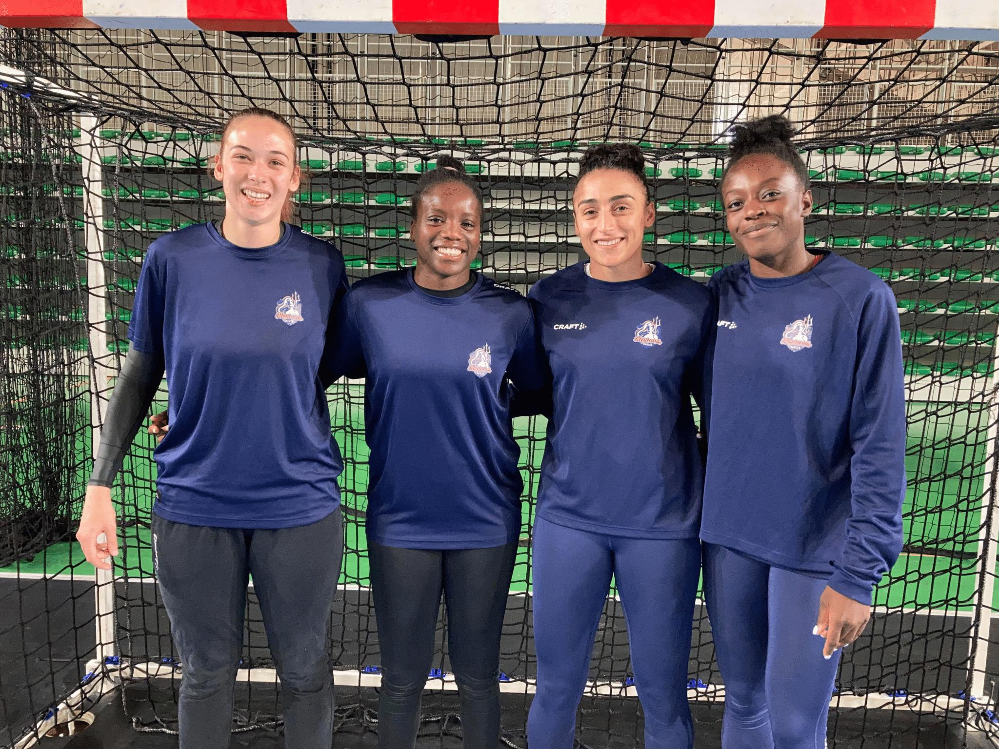 Floriane André, Déborah Kpodar, Orlane Ahanda et Oriane Ondono ont été appelées par Olivier Krumbholz pour un stage avec l'équipe de France A.